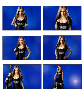 Free screensaver featuring blonde Avril Lavigne. Contains 25 wallpaper pictures.