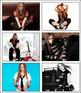 Gorgeous Avril Lavigne in this free wallpaper screensaver containg 25 pictures Screen Shot