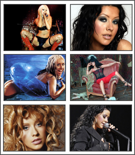 Free download Christina Aguilera 1 Screensaver